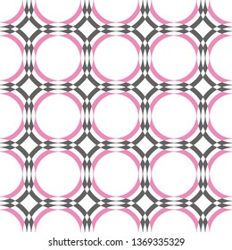 Seamless pink and gray geometric pattern vector