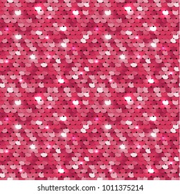 Seamless pink sequined texture - vector illustration eps10
