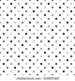 Seamless Polka Dot Pattern. Vector Background For Web, Print, Wallpaper And Other Design.
