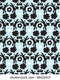 Seamless poodle jacquard repeat pattern, fully editable vector file.