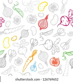 Seamless Pretty Vegetable Background