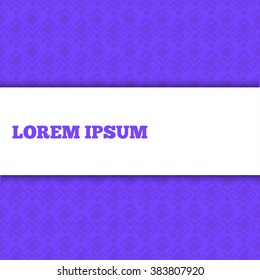 seamless purple background and white banner