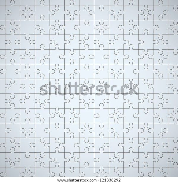 Seamless puzzle texture. EPS10 vector.