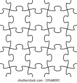 Seamless puzzle vector shape