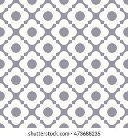 seamless quatrefoil monochrome vector pattern.
