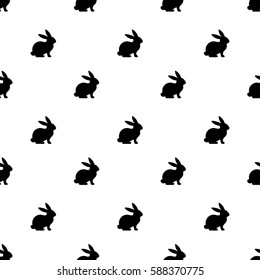 Seamless rabbit pattern to Easter holiday. Vector illustration