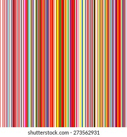 Seamless rainbow curved stripes color line art vector background