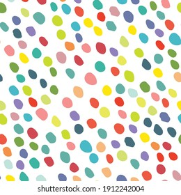 Seamless Random Spot Art. Color Dot. Abstract Eps Dot Splotch. Rainbow Retro Polka Background. Orange Vector Spot Confetti. Small Pattern Cool Sparks. Abstract Vintage Ball. Red Random Christmas Paint