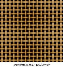 Seamless rattan pattern in knotwork style, vector