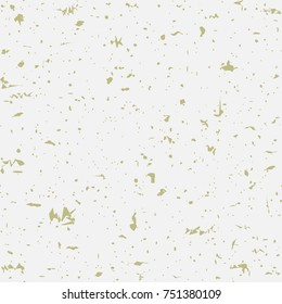 Seamless recycled speckled beige paper background. Vector paper texture with gold particles of debris.  Vintage style. fade grange paper.  Good for poster, placard, playbill