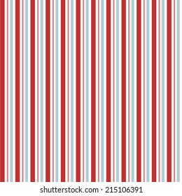 Seamless Red and Blue Vector Stripes Background Pattern