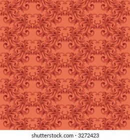 Seamless red vector wallpaper pattern.