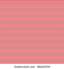 seamless red with white thin horizontal stripes pattern