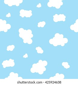 Seamless Repeatable Cloud Background Pattern