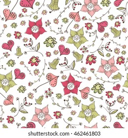 Seamless repeatable floral pattern