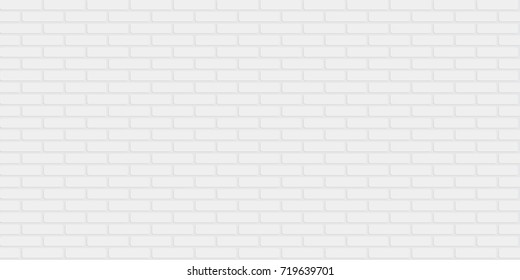 Seamless repeatable minimal white painted brick wall pattern background. Eps 10 stock vector illustration.