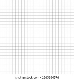 Seamless, repeatable Squares grid, mesh, Graph, Plotting paper pattern, Regular Lattice, grate-grating, Trellis and grill with thin lines
