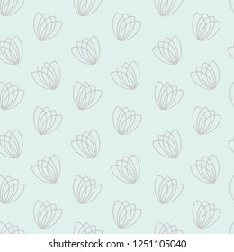 Seamless repeating floral pattern, with a simple flower.