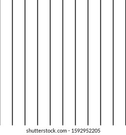 Seamless repeating pattern of classic black pinstripe design on white background - Vector. Suitable for use in fashion, textures, crafting, textiles, wallpaper, web design etc.