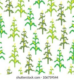 Seamless retro corn field pattern