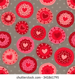 Seamless retro hearts pattern. It can be used for cloth, jackets , bags , notebooks , cards, envelopes , pads , blankets , furniture