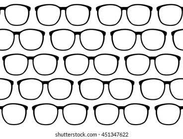 Seamless retro hipster glasses background vector