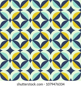 seamless retro pattern in scandinavian style with geometric elements