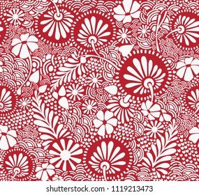 Seamless retro style background. With images of daisies. Vector image can be used in a variety of designs. Textile fabric, printing and many other areas. Creative and seamless.