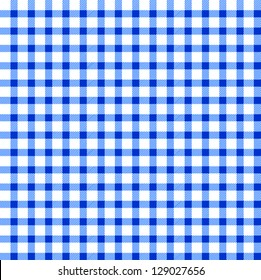 Seamless retro white-blue square tablecloth