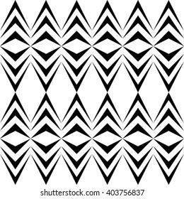 Seamless Rhombus Pattern. Vector Aztec Background