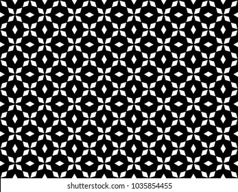 Seamless rhombus pattern vector. Design shape white on black. Design print for textile, fabric, wallpaper, background.