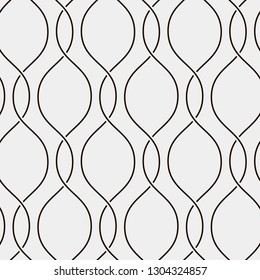 Seamless ripple pattern. Trendy vector texture. Stylish background with linear wavy lines.