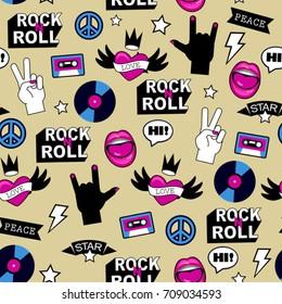 seamless rock music pattern
