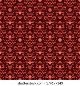 Seamless romantic vintage pattern