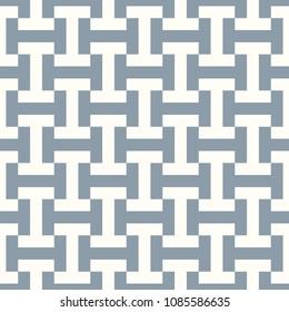 Seamless Sayagata pattern. Repeated interlocking manji background. Oriental symbols ornament. Traditional architecture wallpaper. Ancient ethnic mosaic motif. Digital paper, textile print. Vector art.