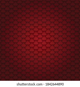 Seamless Scalable Vector blossom Pattern contains Scarlet Flowers and Indian Red color background. Backdrop suitable for wedding invitation, save the date Greeting Card, Scrapbook, Web Banner, etc.