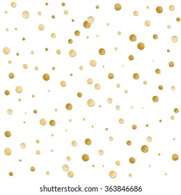 Seamless scattered shiny golden  glitter polka dot  pattern