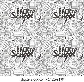 seamless school pattern