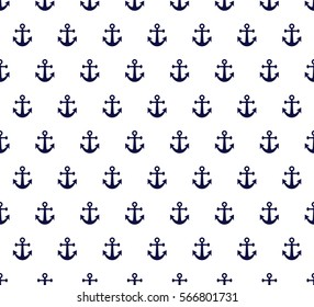 Seamless sea pattern in anchor