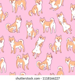 Shiba Inu Pattern Images Stock Photos Vectors Shutterstock