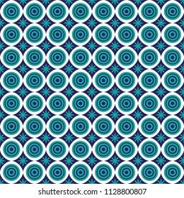 Seamless shweshwe circle pattern
