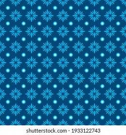 Seamless Shweshwe Flower Pattern for Fabric and Textile Print