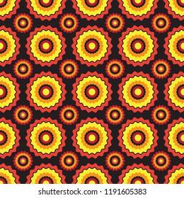 Seamless shweshwe sun pattern
