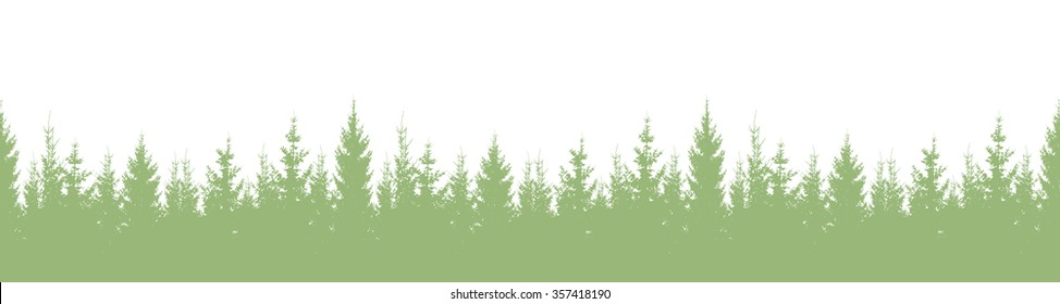 Seamless silhouette forest. Vector