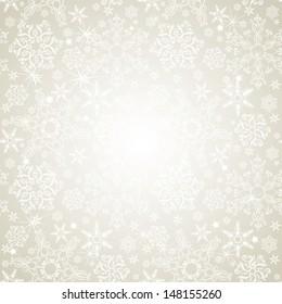 Seamless silver snowflakes background