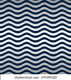 Seamless silver wave pattern. Vector illustration