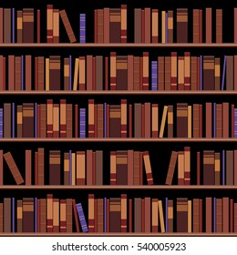 Seamless simple classic library, use this pattern for your design background. Vector eps10