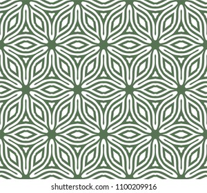 Seamless Simple Colorful Geometric Repeating Tile Pattern. Vector Illustration.