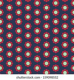 Seamless simple flower pattern