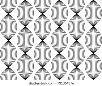Seamless simple linear pattern. Abstract monochrome geometric pattern.Intersecting lines. Braid